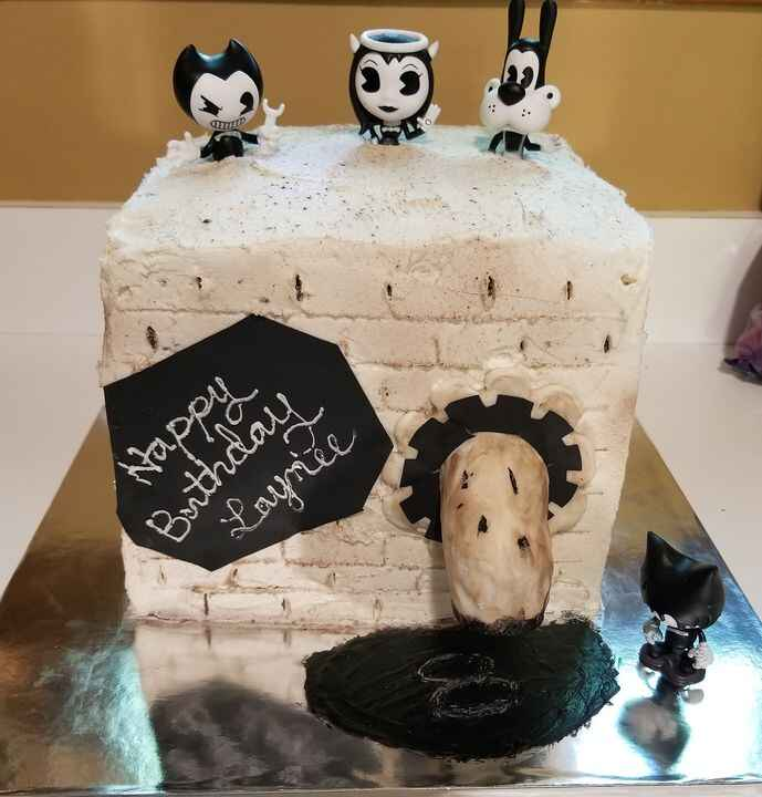 Bendy and the Ink Machine cake I made for my granddaughter Laynee