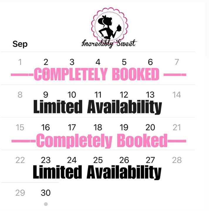 I have just a few more spots available for September! Come get a taste of the sweet life😘 and book with me today♥️ ....I...