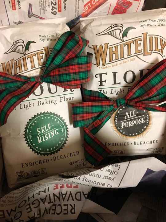 My Auntie is the greatest. Best Christmas gift ever!! I ❤️ biscuits and cannot wait to try the BEST flour for them! #bis...