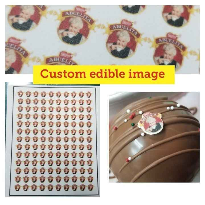 Custom edible image like this Abuelita  for a Chocolate Bomb !.Shipping Nationwide !Edible images icing topper for cakes...