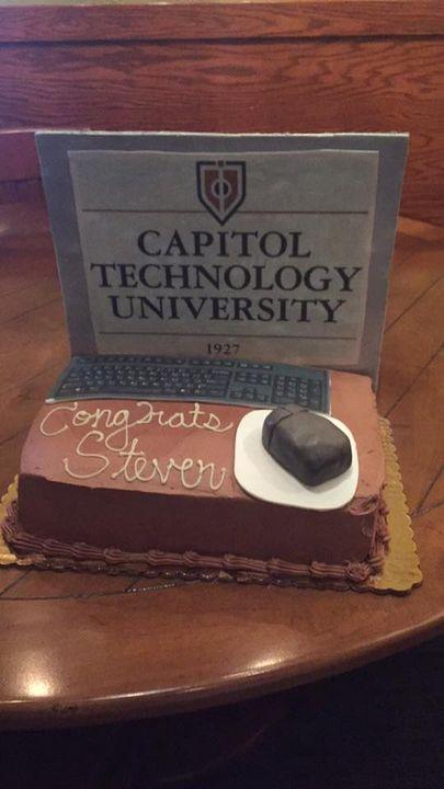Computer cake I did for a high school graduation!