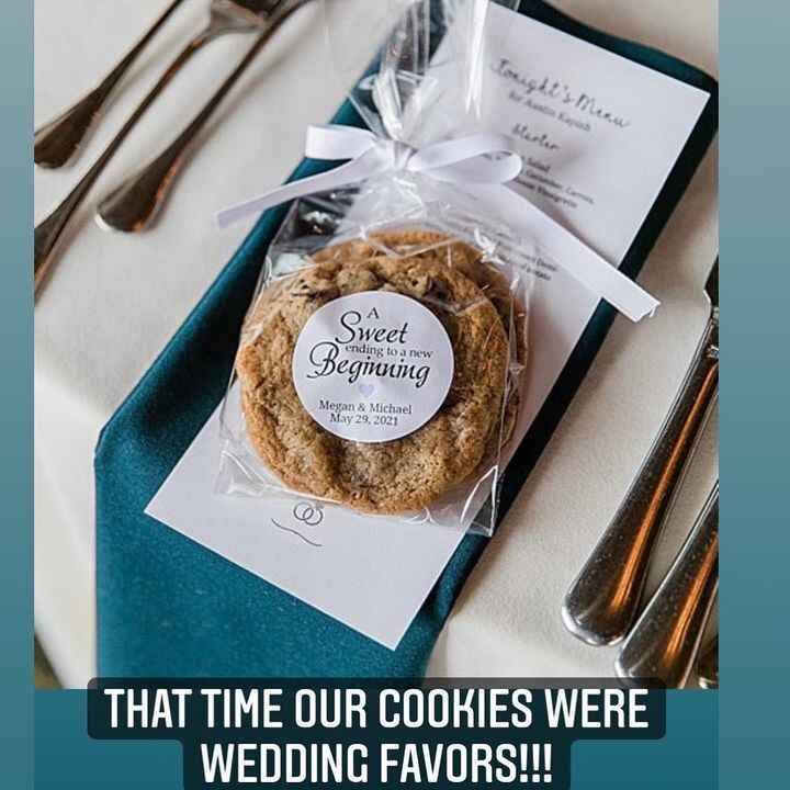 Here's to outrageously sweet beginnings...🍪👰♀️🤵♂️#weddingfavors