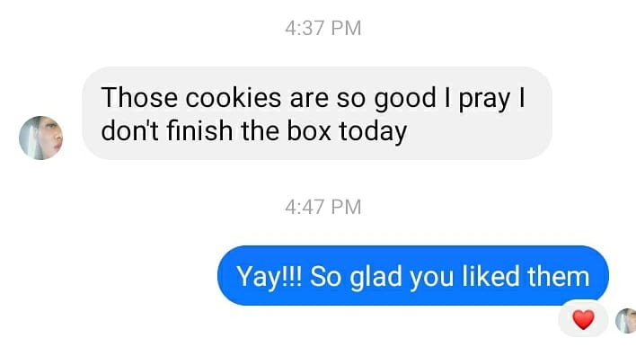 Latest review in Angel Baked It cookies 😄❤️www.angelbakedit.com