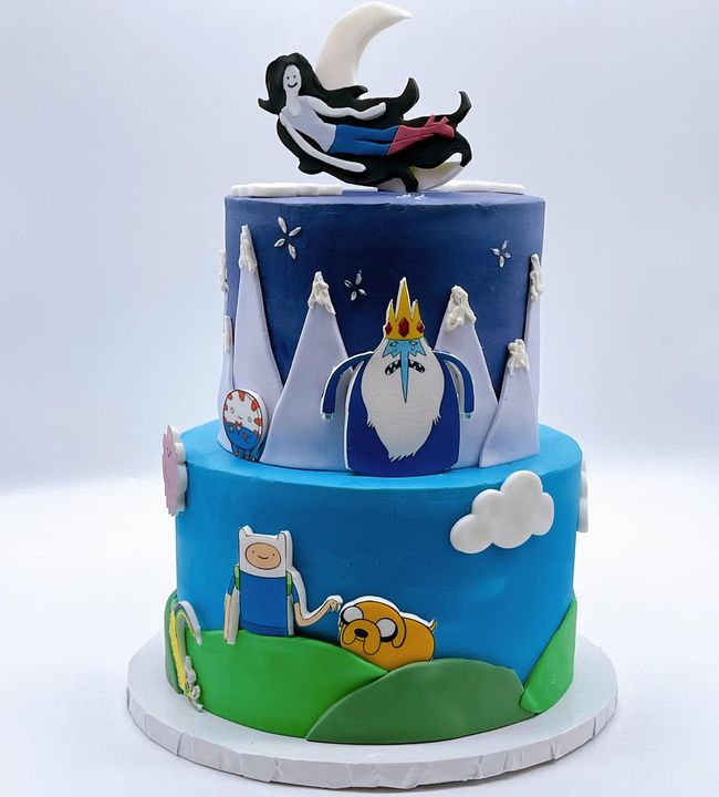 """""""Suckin' at something is the first step to being sorta good at something"""" -Finn the human••Adventure time fondant charac..."""