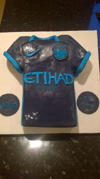 City away kit for a 13th birthday party