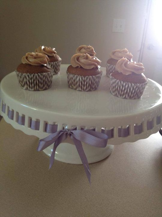 Pumpkin Cupcakes with Cinnamon frosting to start up the fall season. Contact Suga Suga Cupcakes to schedule a tasting fo...