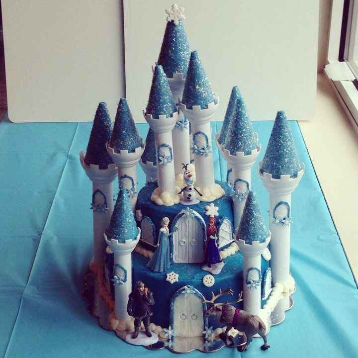❄️Frozen castle⛄️ cake I did for a birthday party @cupcakesbythree today! #cupckaesbythree #cake #frozen #birthday #berm...